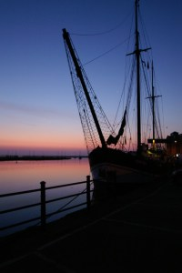 The Albatros at 5.45am, Wells quayside