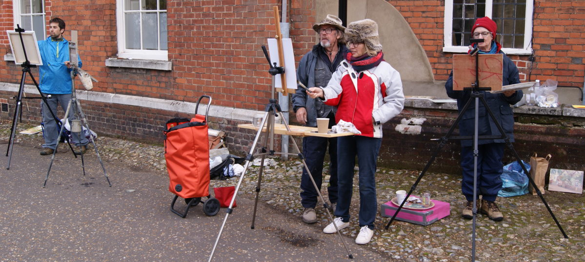 Michael Richardson teaching oil painting workshop. Photo by Katy Jon Went