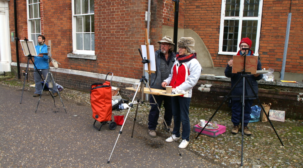 Art Workshops at Paint Out Norwich 2015 with Michael Richardson photo by Katy Jon Went