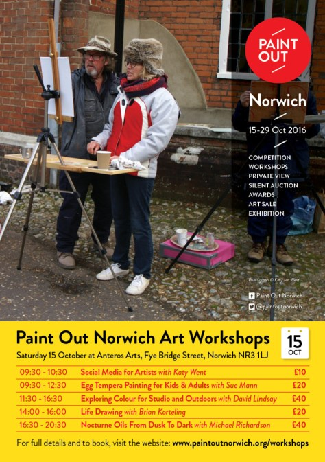 Paint Out Norwich 2016 art workshops