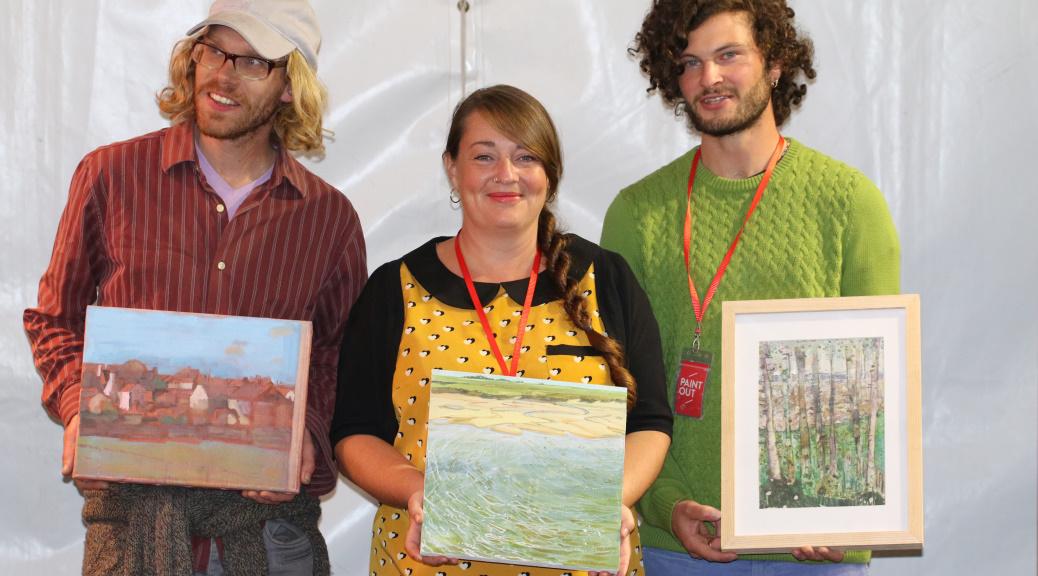Paint Out Wells 2015 Prizewinners Lara Cobden Alfie Carpenter Jack Godfrey ©Mark Ivan Benfield