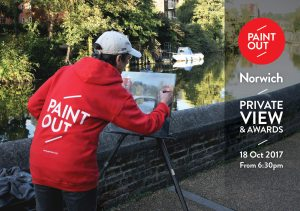 Paint Out Norwich 2017 Private View & Awards Invite