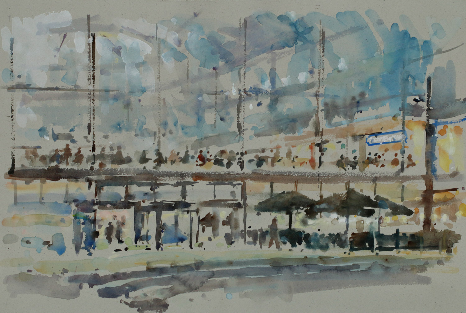 Artist Andrew Horrod – The Forum, £425 12×20 Watercolour on