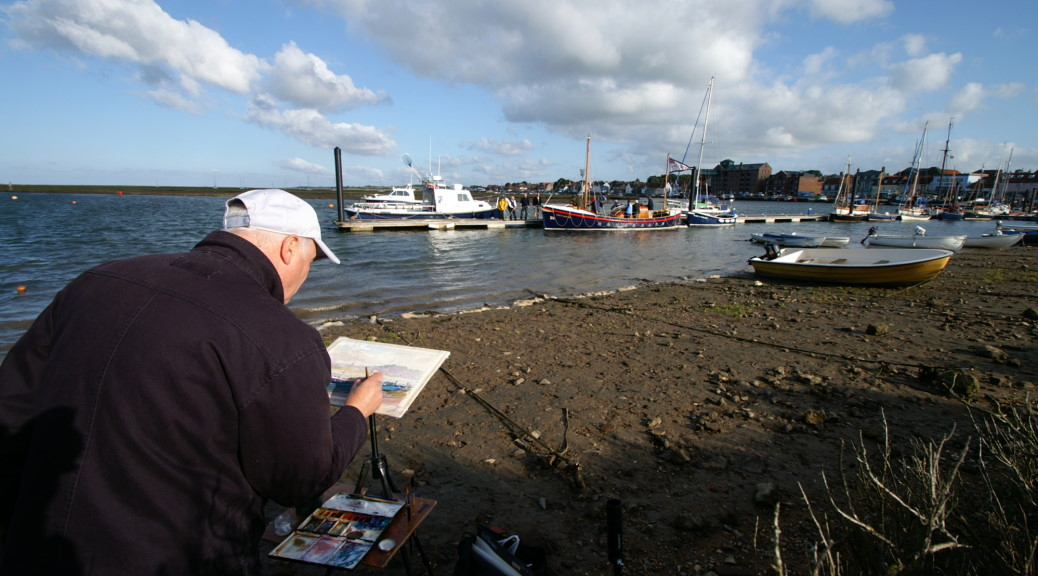 Richard Bond painting in Wells