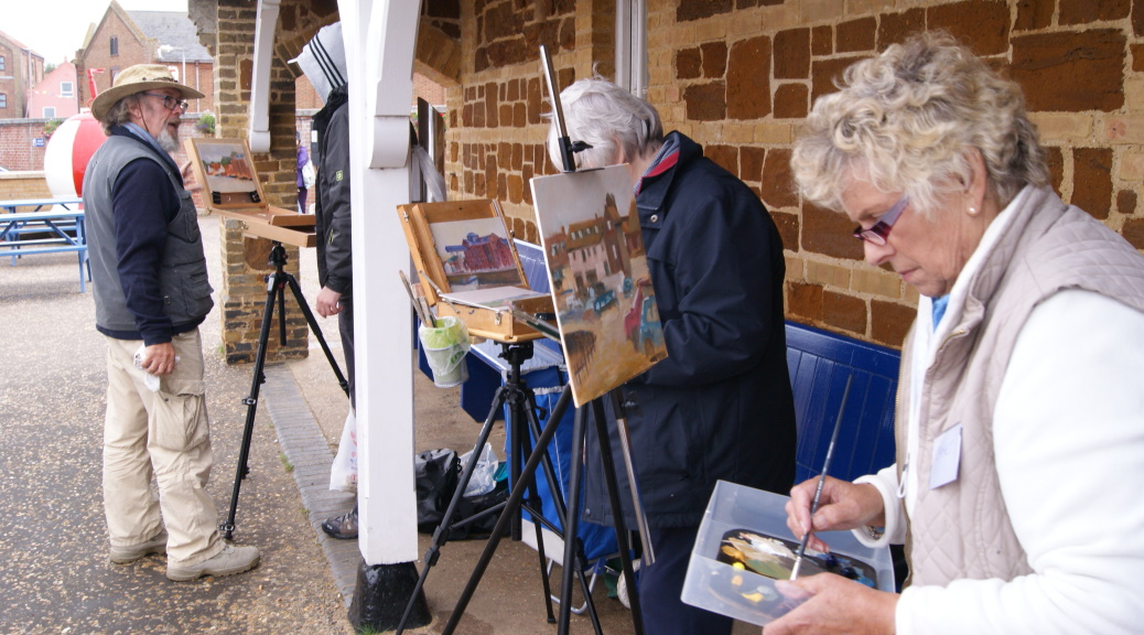 Michael Richardson Art Workshop at Paint Out Wells 2015 Photo by Katy Jon Went