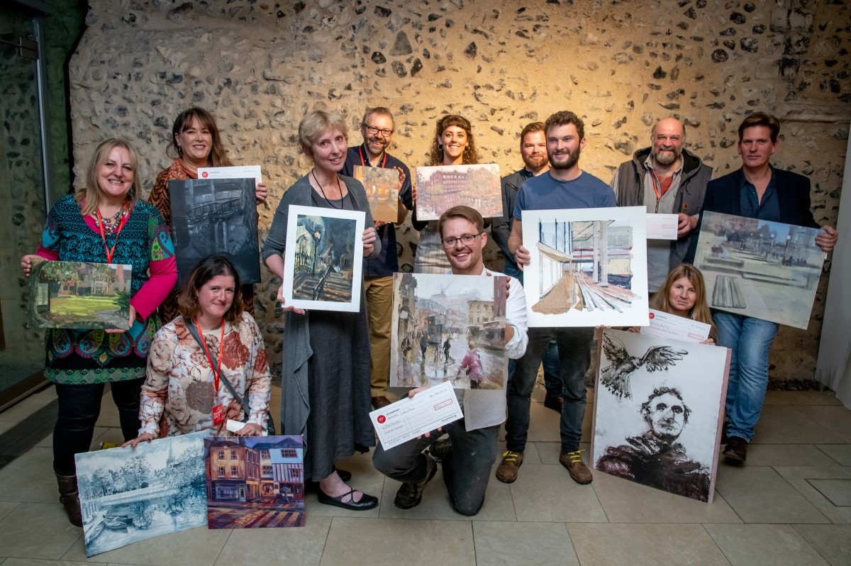 Paint Out Norwich Award Winners 2018. Photo credit ©Simon Finlay Photography.