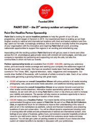 Download Paint Out Headline Partners Sponsorship doc