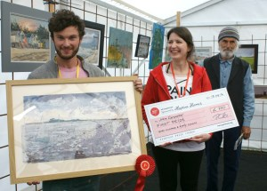 First Prize at Paint Out Wells 2016 Alfie Carpenter Hoping for Sun photo by Katy Jon Went