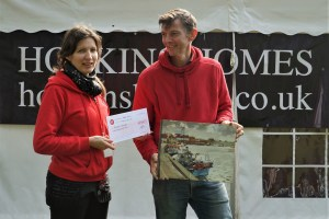 Artist Robert Nelmes wins a judge's commendation at Paint Out Wells. Photo by Katy Jon Went