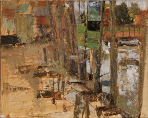 Artist Sam Robbins, 'Blakeney Hard', Blakeney, Oil on cardboard, 10x8in, £200 SOLD. Paint Out Wells 2017 Second Prize
