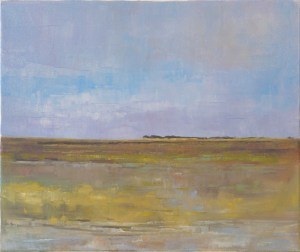 Artist Tom Cringle, 'Low Tide Looking North East', Wells-next-the-Sea, Oil, 60x50cm, £300. Paint Out Wells 2018