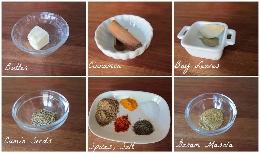 Instant Pot Chicken Curry Ingredients Part 1