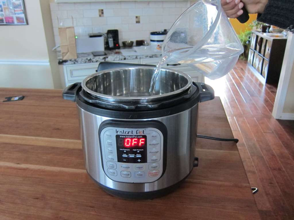 Instant Pot Manual - Water Test Pour Water