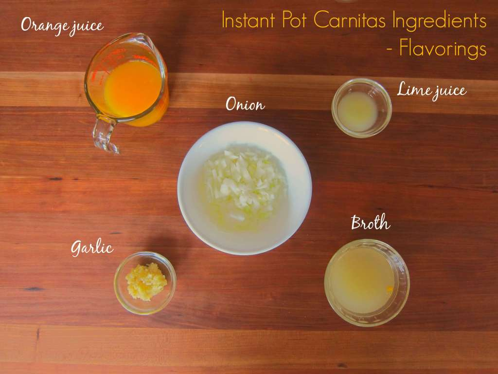 Instant Pot Carnitas - Ingredients flavorings - Paint the Kitchen Red