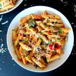 Instant Pot Pasta | Penne with Sausage in Tomato Cream Sauce