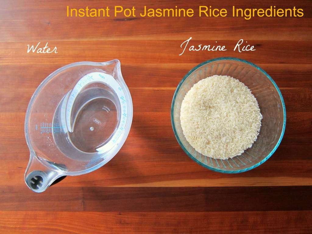 Instant Pot Jasmine Rice - Ingredients - Paint the Kitchen Red