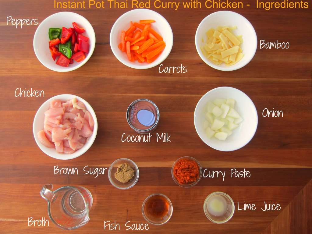 instant pot thai red curry with chicken - paint the kitchen red