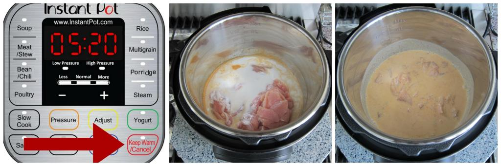 Instant Pot Thai Red Curry Chicken Instructions 2 - Paint the Kitchen Red