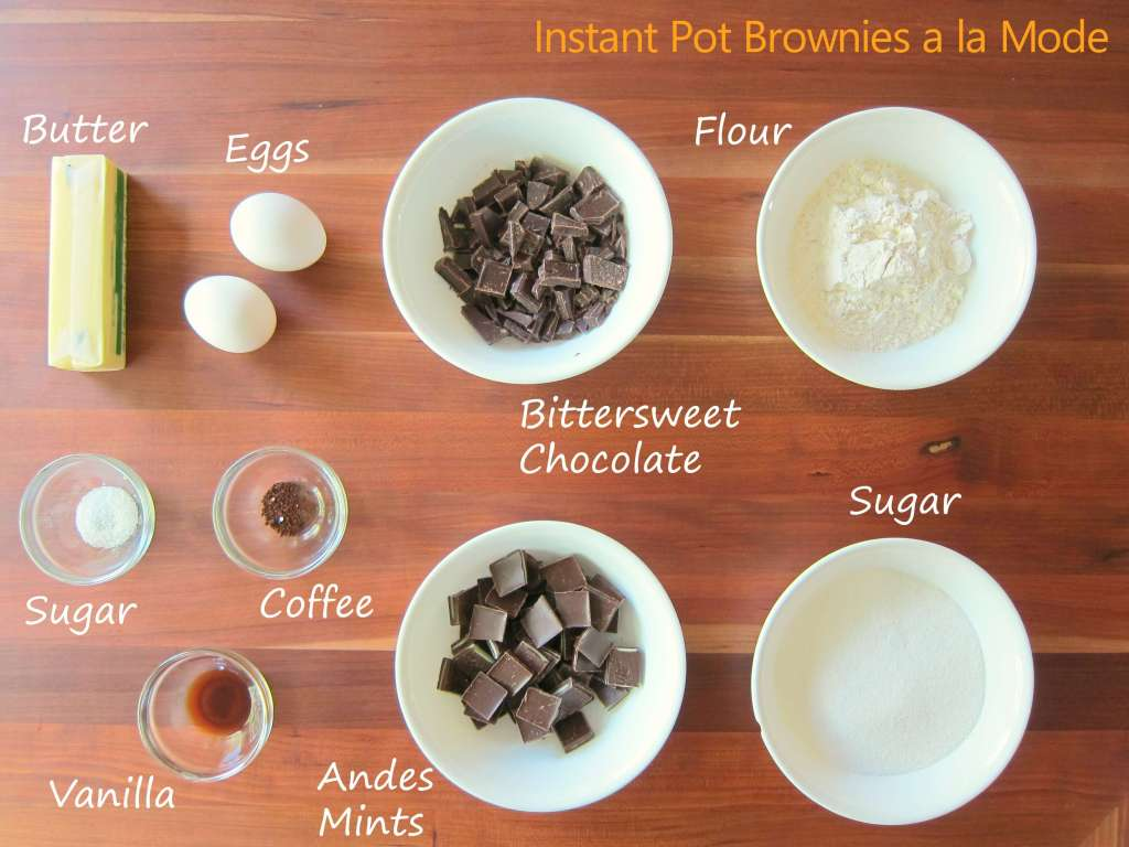 Instant Pot Brownie Sundaes Ingredients - Paint the Kitchen Red