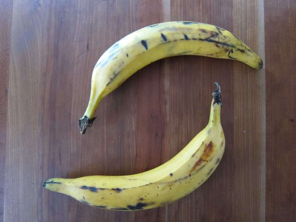 Ripe plantains for jerk chicken side dish