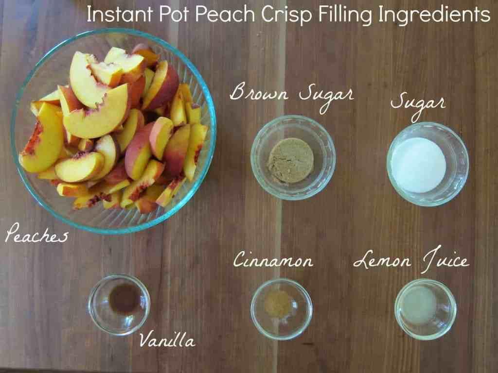 Instant Pot Peach Crisp Ingredients 2 - Paint the Kitchen Red