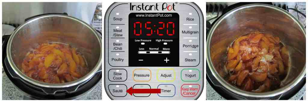Instant Pot Peach Crisp Instructions 4 - Paint the Kitchen Red