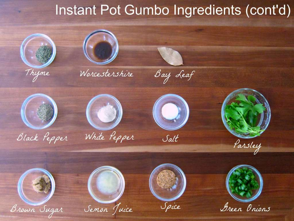 Instant Pot Gumbo Ingredients 2 - Paint the Kitchen Red