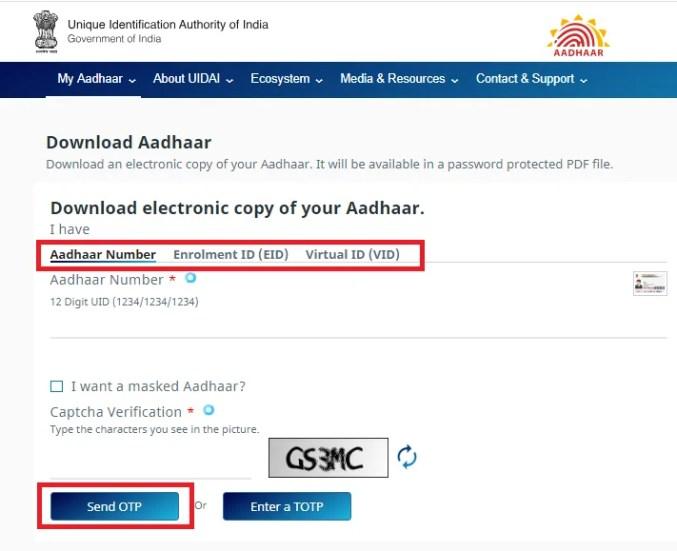 download electronic copy of aadhaar