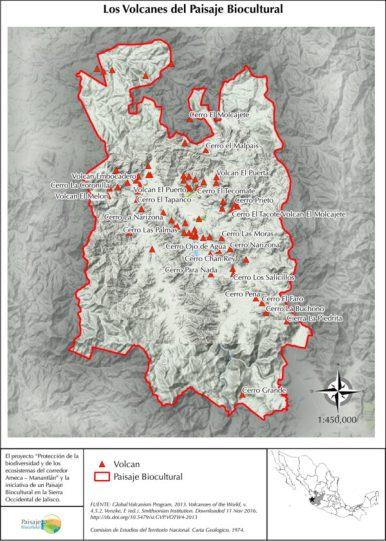 El proyecto Volcanes dentro del área de intervención del Paisaje Biocultural