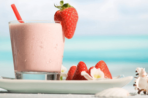 A milkshake is a sweet, cold beverage which is usually made from milk, ice cream, or iced milk, and flavorings or sweeteners such as butterscotch, caramel sauce, chocolate sauce, or fruit syrup