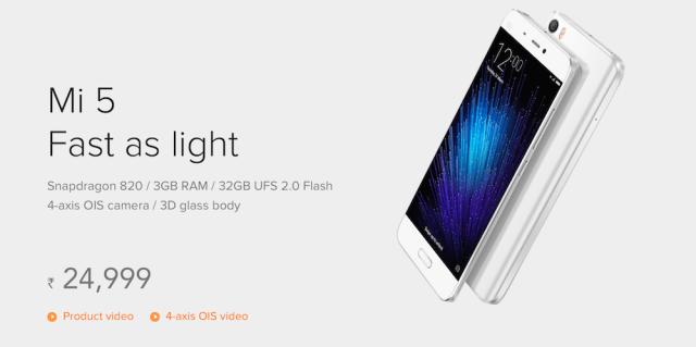 Xiaomi Mi 5 Phone 32 GB