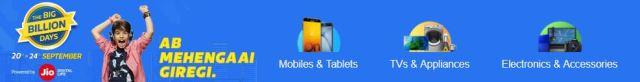 Flipkart Big Billion Day Sale on Mobile