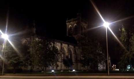 Paisley Abbey night