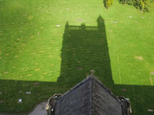 Shadow of Paisley Abbey