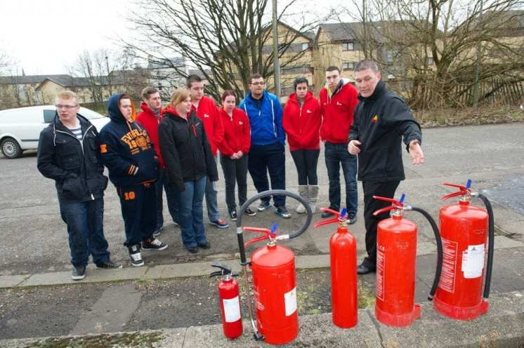 Recruits learn about fire safety