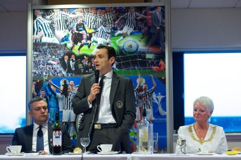St Mirren civic reception top table Danny Lennon