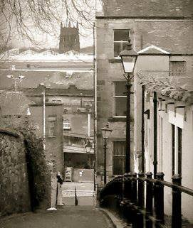 The 'Dirty Steps': Meetinghouse Lane.