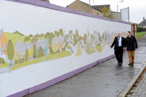 Johnstone Town Hall hoardings