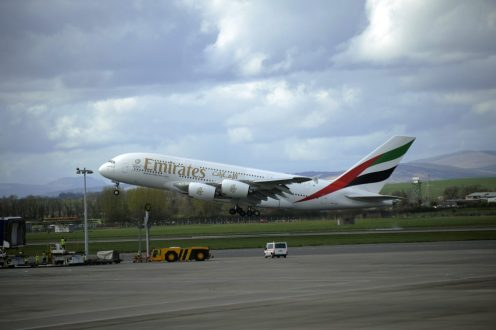 Glasgow Airport Emirates A380