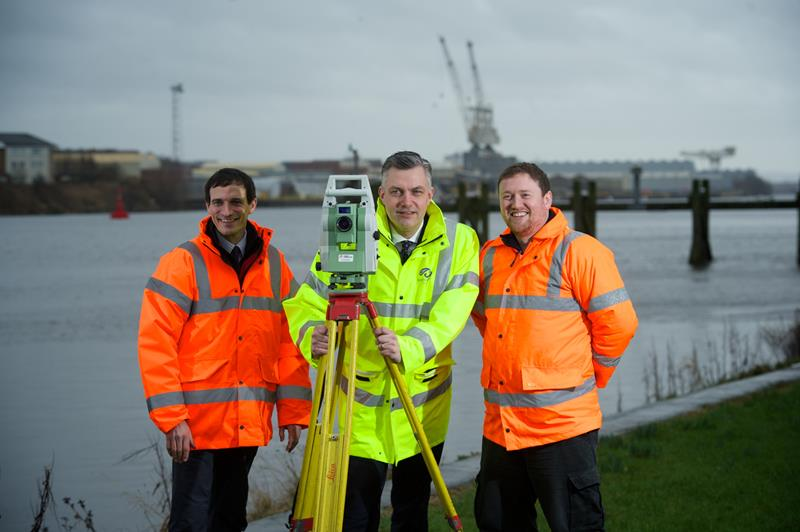 Stuart bloomfiled and Neil Cooper of Aird Geomatics