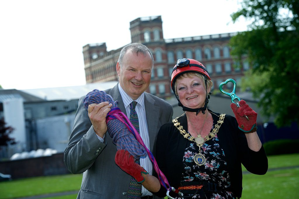 Renfrewshire's Provost Anne Hall with Ken Mathie, ACCORD Hospice