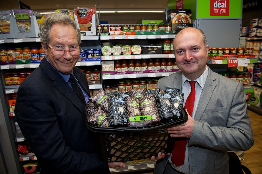 ohn Riches, Chairman of Just Trading Scotland and COuncillor Jim Sharkey, Chair of the Renfrewshire Fairtrade Steering Group