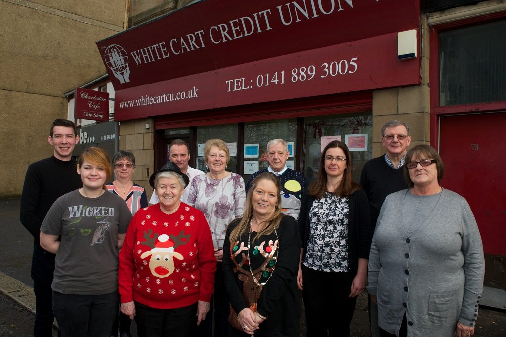 Representatives from White Cart Credit Union, Johnstone Credit Union and Gleniffer Credit Union at White Cart Credit Union