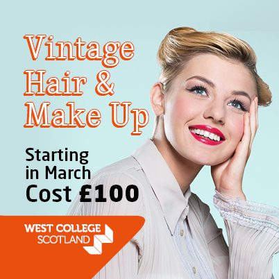 Learn Vintage Hair And Make Up At Wcs Paisley Scotland