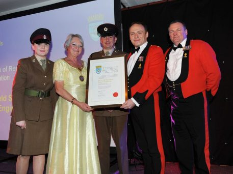 Private Rebecca Bullen, Provost Anne Hall, Lance Corporal Chris Wright, Major Craig Donnelly, Staff Sergeant Lawrence Johnson