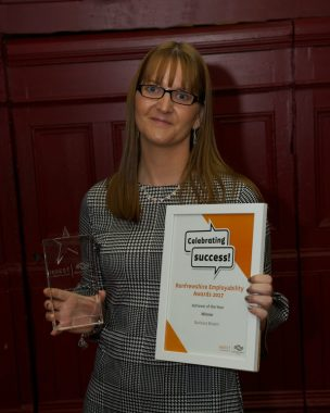RDC Invest awards 6.9.17 Celebrating Success Renfrewshire Employability Awards 6.9.17 Paisley Town Hall Special Achievement Award Barbara Brown