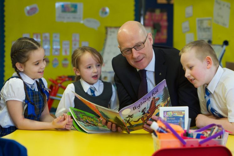 Deputy First minister John Swinney visits Our Lady of Peace 19.1.18