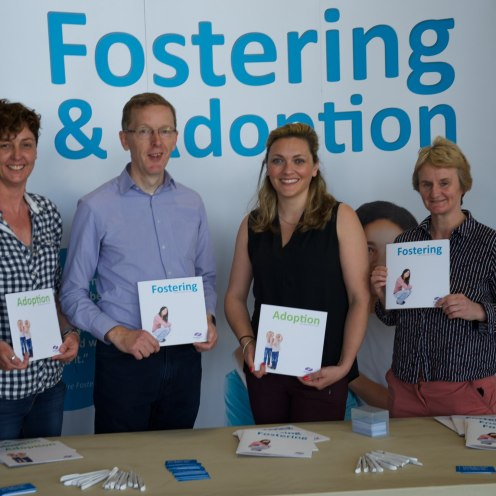 Members of Renfrewshire's foster care team Aileen Byrne, Robin Lawson, Amy McGranthin & Cathie O'Donnell