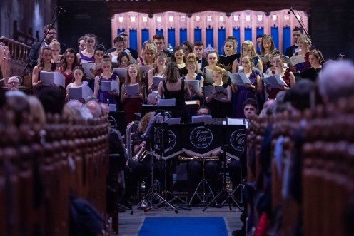 Chamber Choir accompanies by Johnstone Brass Band