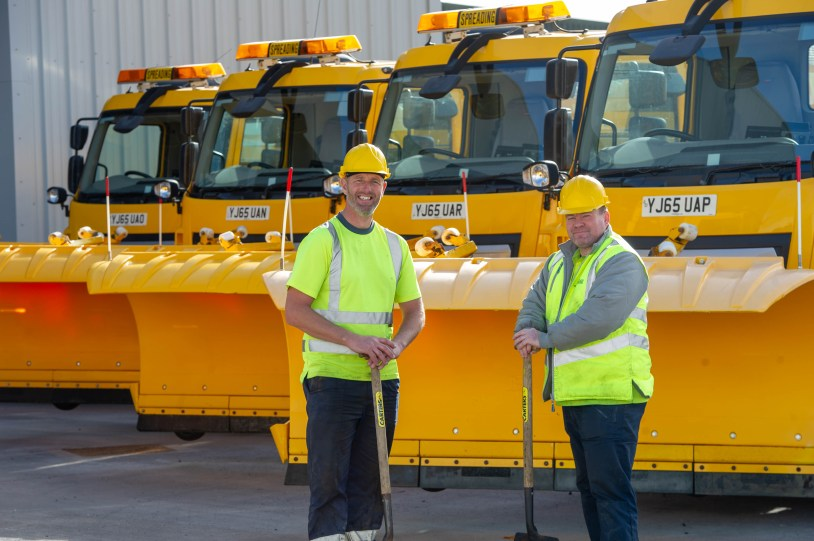 Gritter drivers Eric Phillips and John Clark